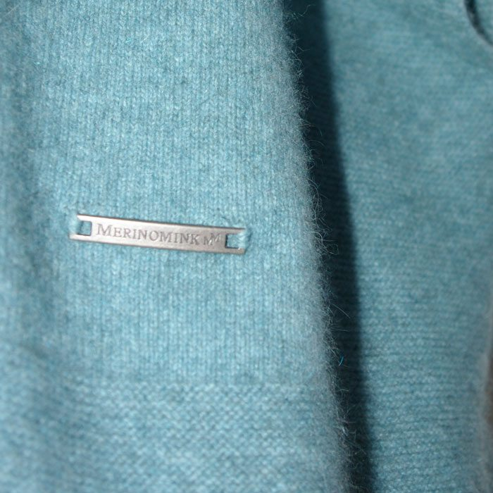 Possum Merino Lanarch Cape in Mist Branding