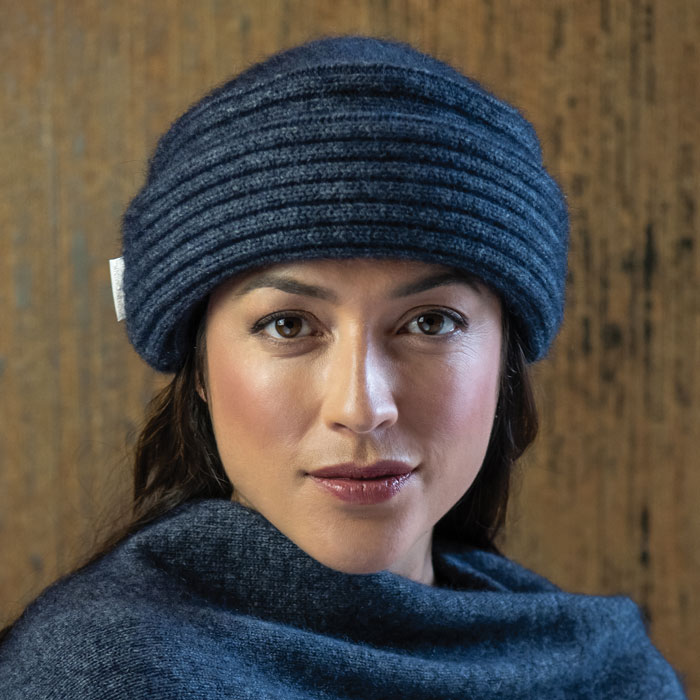 Merino Mink Felted Hat in River