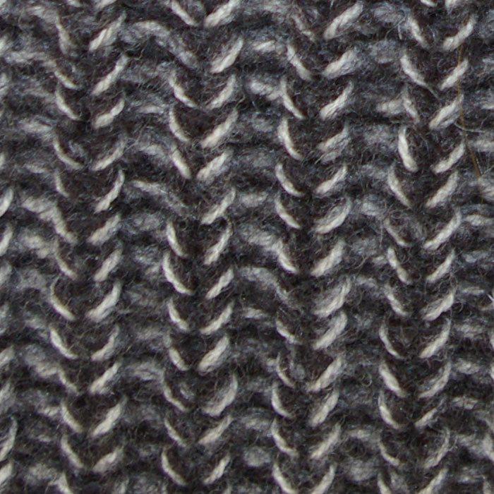 Possum Merino Mens Clout Crew Neck in Graphite Weave Detail