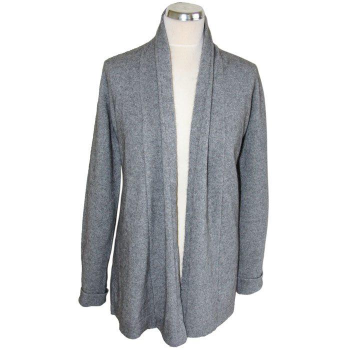 Possum Merino Wrap Jacket in Silver
