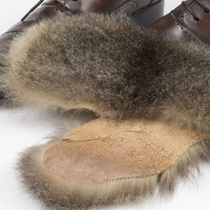 Possum Fur Insoles Detail