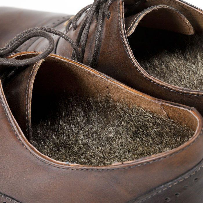 Possum Fur Insoles in Shoe