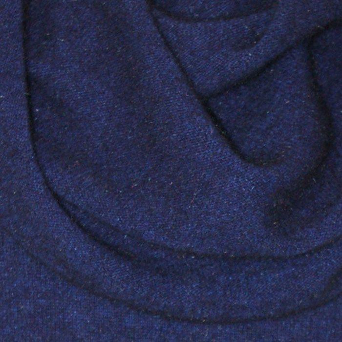 Possum Merino Ladies Roll Neck Wairua Cape in Zephyr Navy Blue Detail