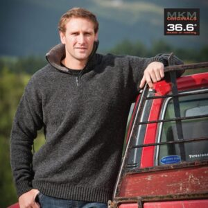 Possum Merino Mens Tasman Half Zip Jumper