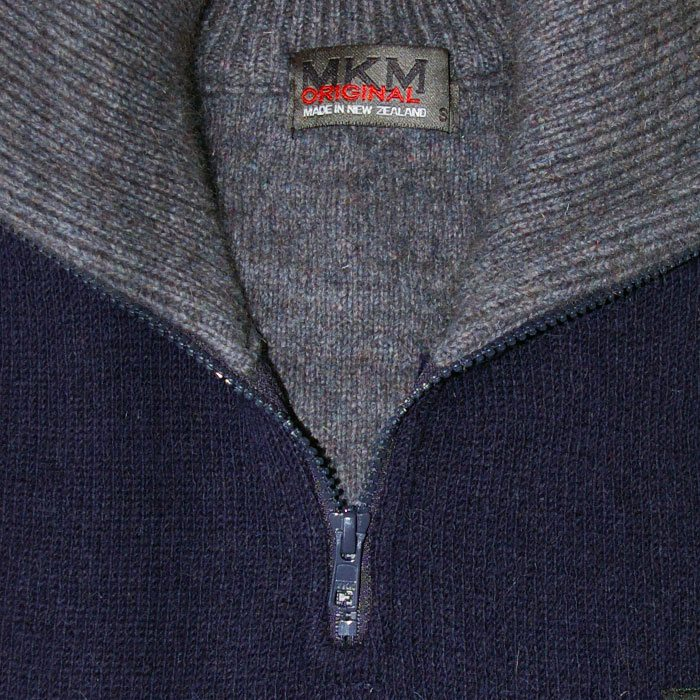 Possum Merino Mens Tasman Half Zip Jumper Detail