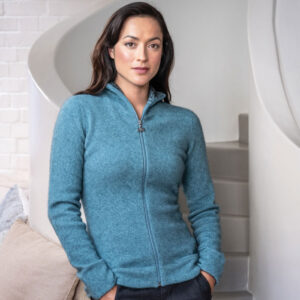 Merino Mink Felted Jacket in Mist Lifestyle