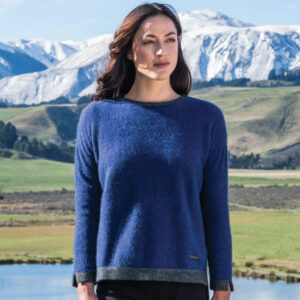 Possum Merino Contrast Tunic in Duke Lifestyle