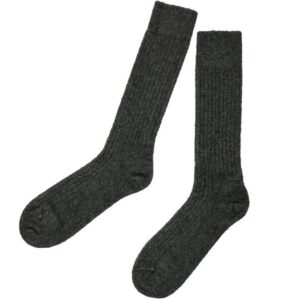 Possum Merino Long Rib Socks in Slate