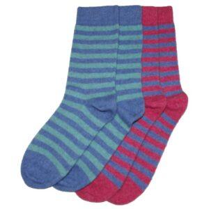 Possum Merino Two Tone Striped Socks