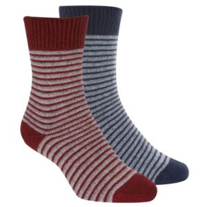 Native World Possum Merino Ladies Fine Stripe Ladies Socks