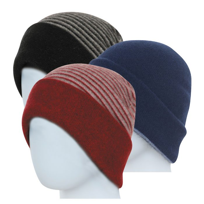 386ba879f9951 Native World Possum Merino Reversible Beanie Hats ...