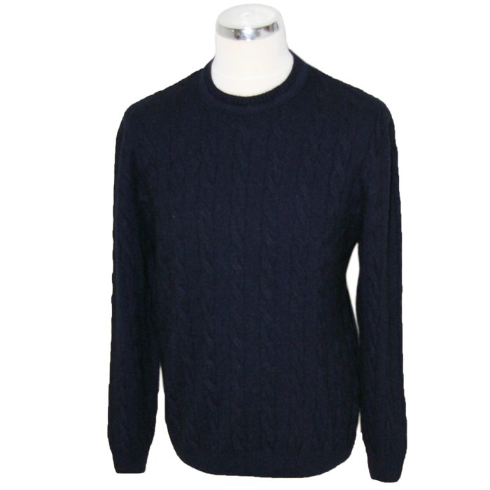Native World Cable-knit Crew Neck in Ink
