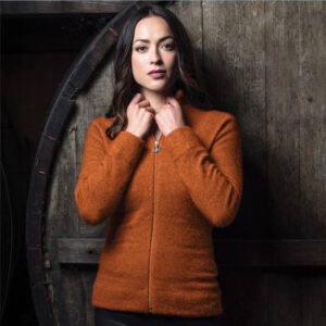 Possum Merino Mink Felted Jacket in Paprika Lifestyle