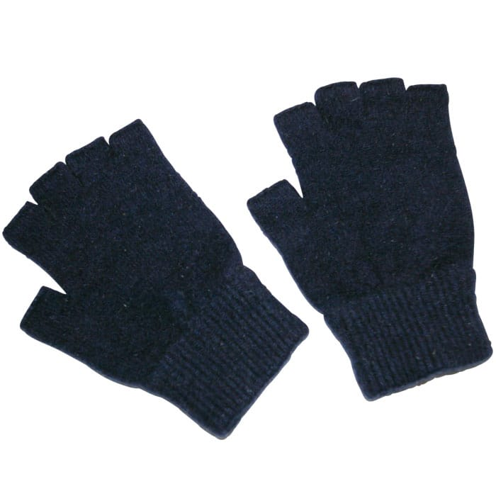 Possum Merino Fingerless Gloves in Twilight