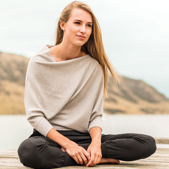 Possum Merino Untouched World Cubic Sweater in Silver Lifestyle