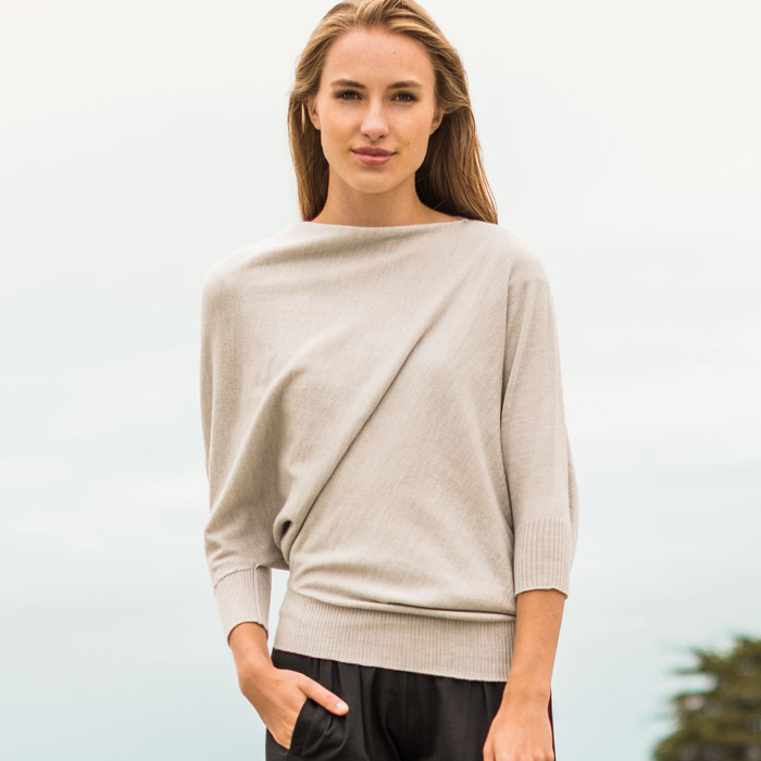 Possum Merino Untouched World Cubic Sweater in Silver Lifestyle 2