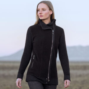 Possum Merino Untouched World Inspire Jacket in Slate Lifestyle