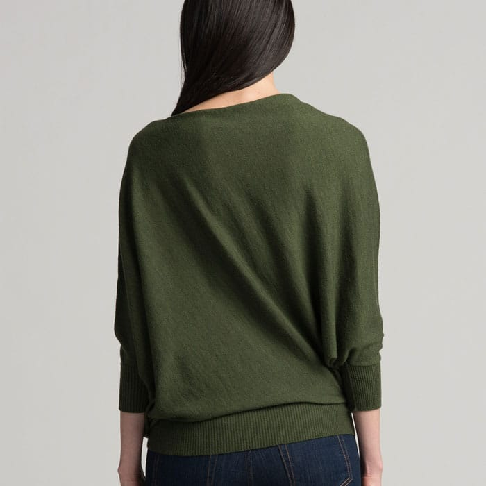 Possum Merino Untouched World Cubic Sweater in Serpentine Back