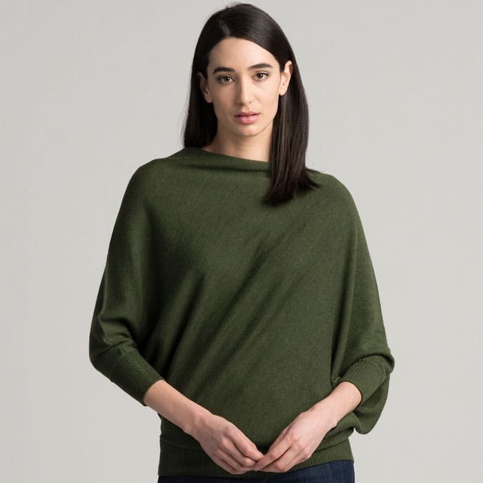 Possum Merino Untouched World Cubic Sweater in Serpentine Front