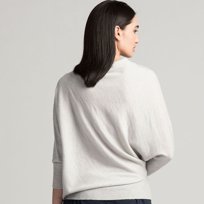 Possum Merino Untouched World Cubic Sweater in Silver Back