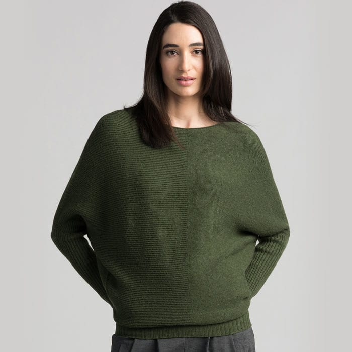 Possum Merino Untouched World Flitch Sweater in Serpentine