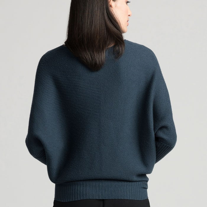 Possum Merino Untouched World Flitch Sweater in Steel Back