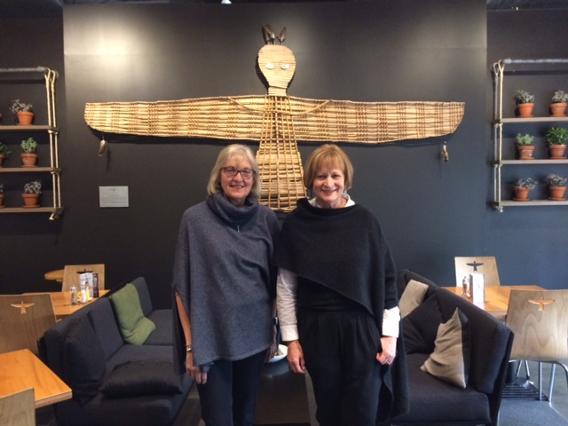 Peri Drysdale of Snowy Peak with Heather Woon of Possum Merino