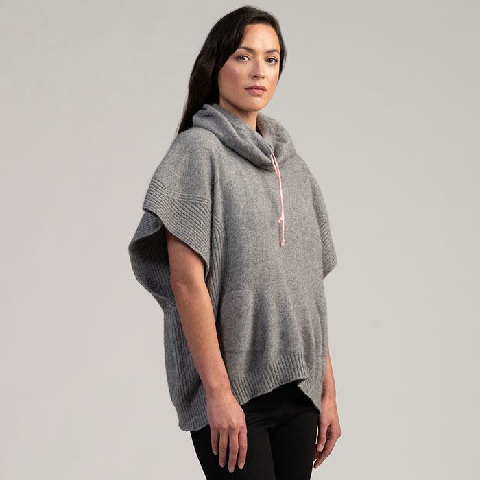 Merino Mink Move Cape in Loft