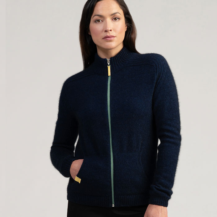 Merino Mink Move Jacket in Zephyr Front