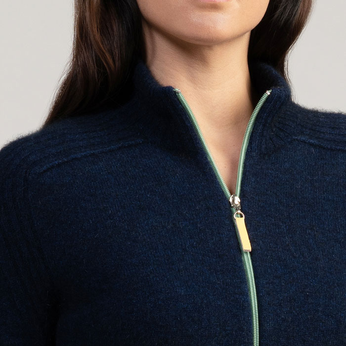 Merino Mink Move Jacket in Zephyr Detail