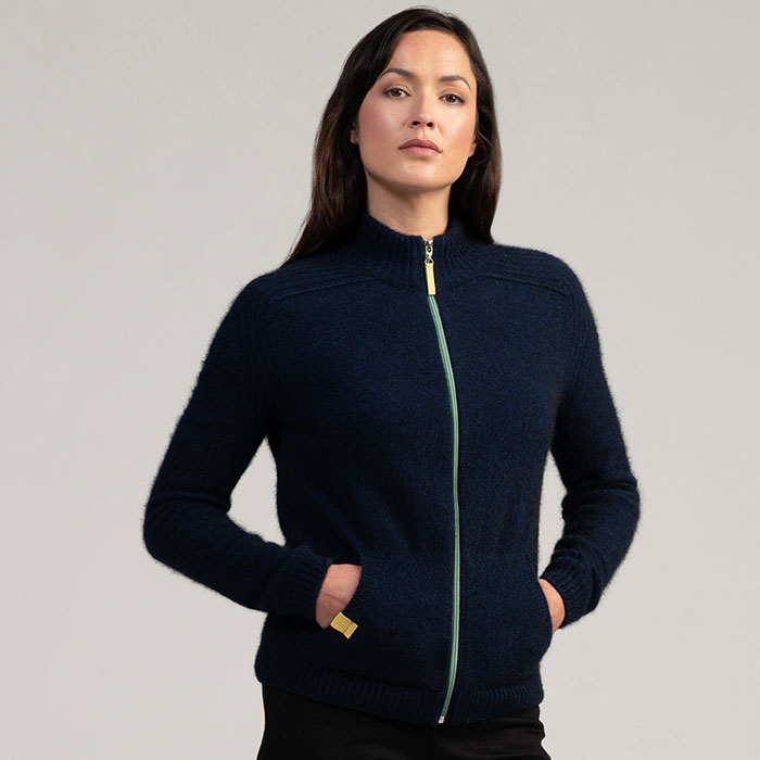 Merino Mink Move Jacket in Zephyr