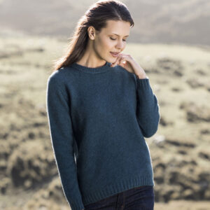 Possum Merino Mosey Sweater in Crevasse Lifestyle