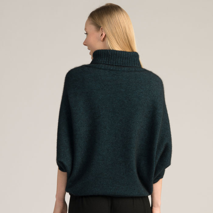 Possum Merino Air Cape in Peacock Back