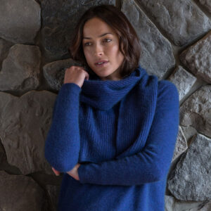 Possum Merino Fine Rib Scarf in Duke Lifestyle