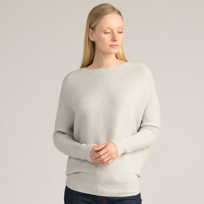 Possum Merino Flitch Sweater in Silver