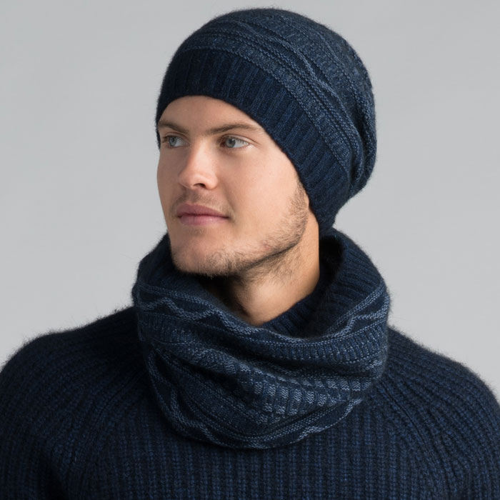 Possum Merino Peak Snood in Zephyr