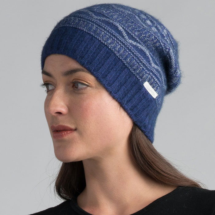 Possum Merino Peak Beanie Hat in Duke