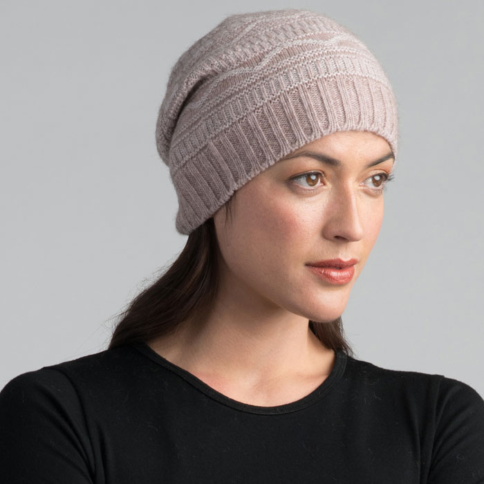Possum Merino Peak Beanie in Wistful