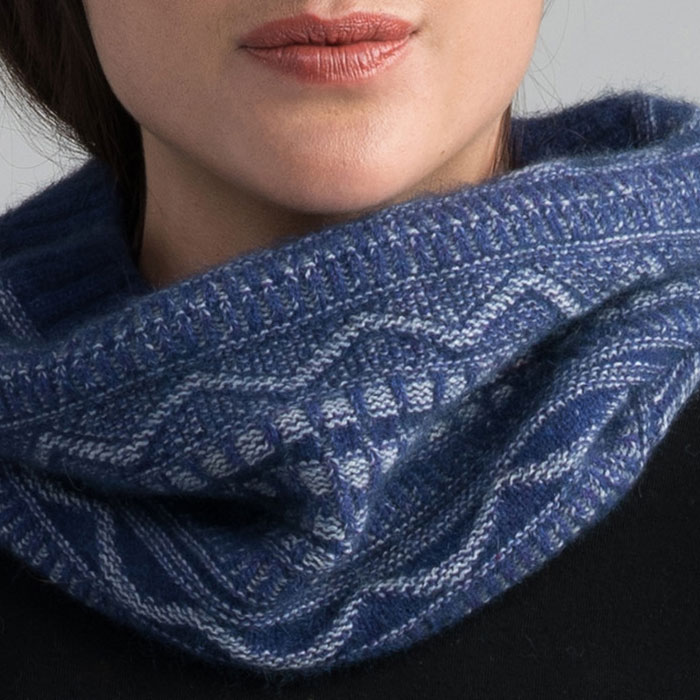 Possum Merino Peak Snood in Duke Detail 2