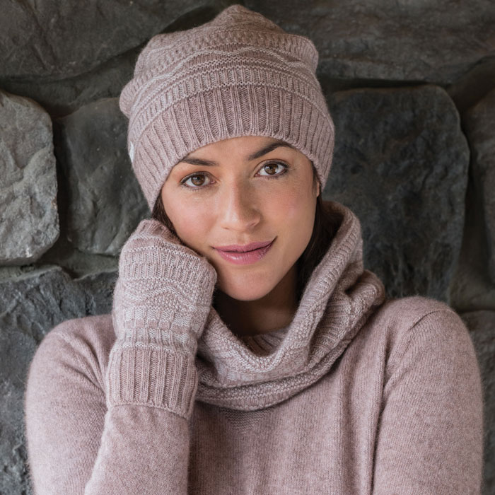 Possum Merino Peak Wristwarmer in Wistful Lifestyl