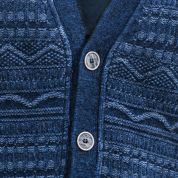 MM Peak Button Cardi in Zephyr Detail