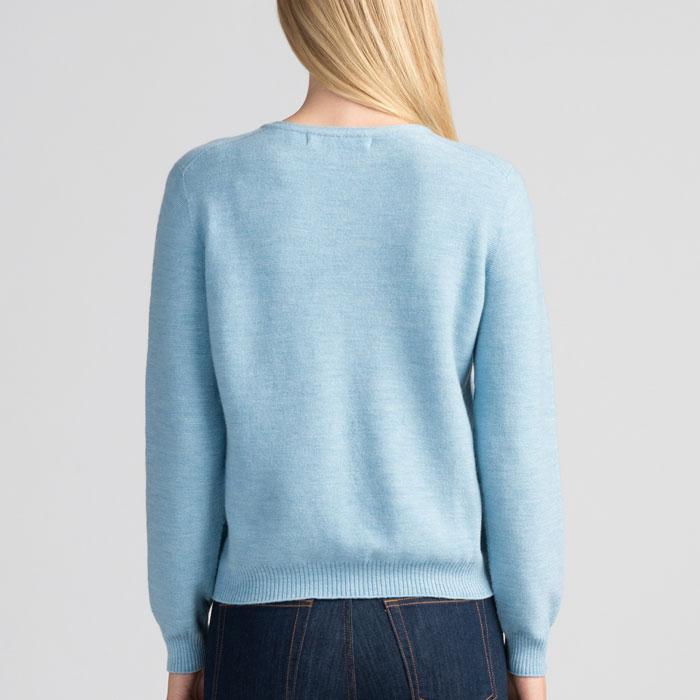 Merino Stitch Sweater in Splash Back
