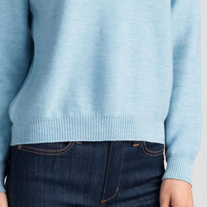 Merino Stitch Sweater in Splash Cuff Detail