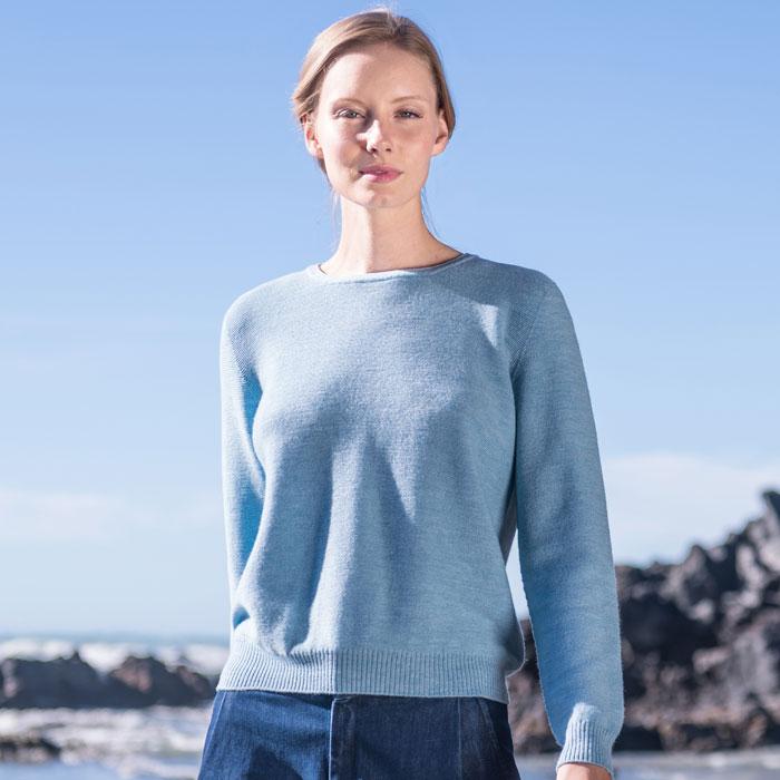 Merino Stitch Sweater in Splash Lifestyle