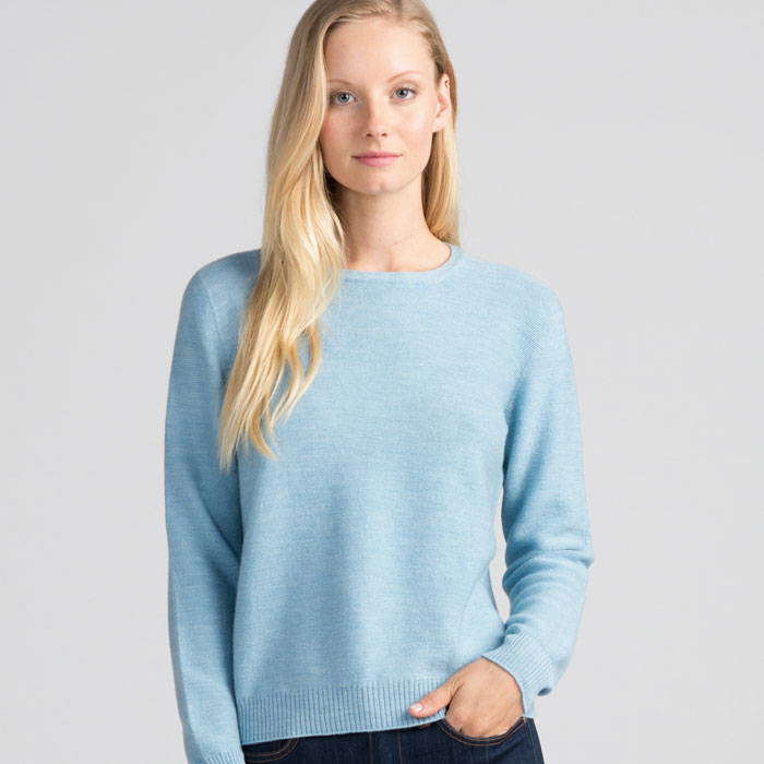 Merino Stitch Sweater in Splash