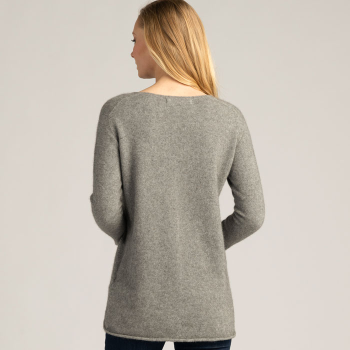 Possum Merino Untouched World Essential Sweater in Loft Back