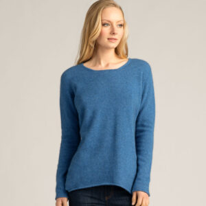 Possum Merino Untouched World Essential Sweater in Ocean
