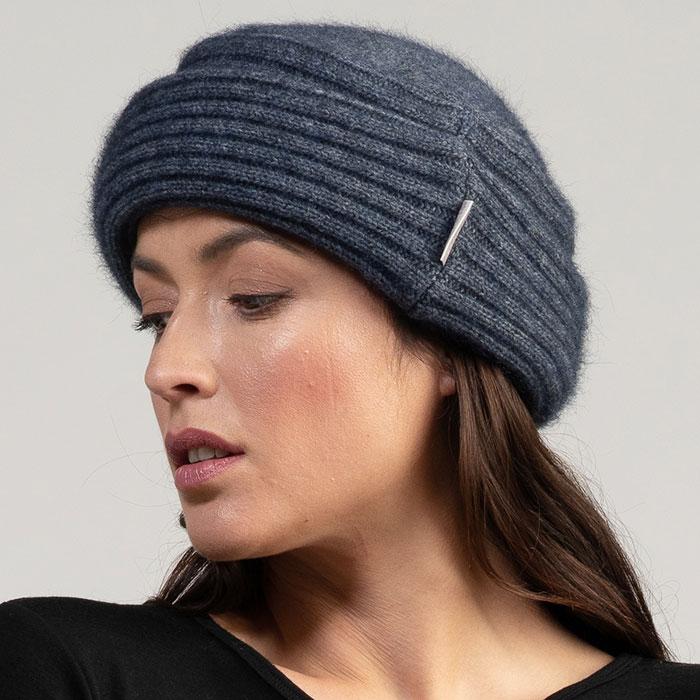 Merino Mink Felted Hat in River