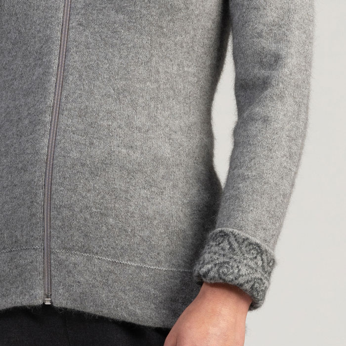 Merino Mink Felted Jacket in Loft Cuff Detail