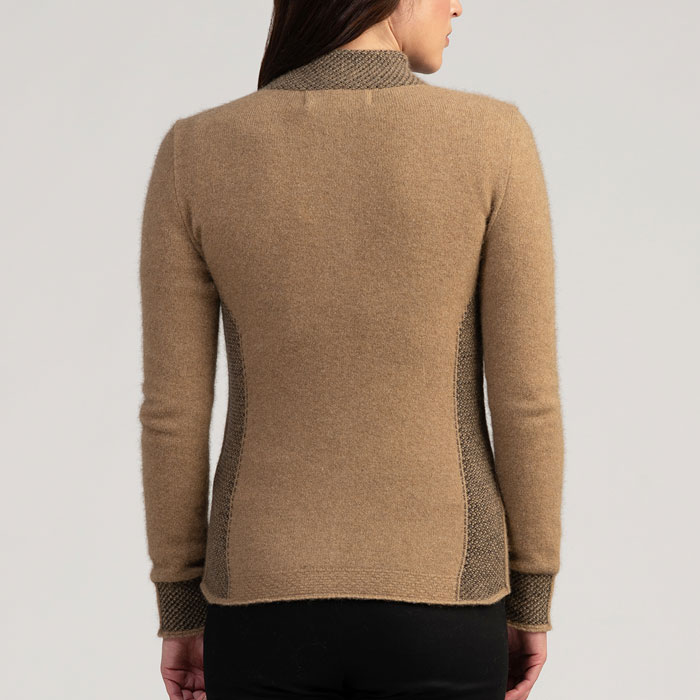 Merino Mink Mt Cook Jacket in Camel Back